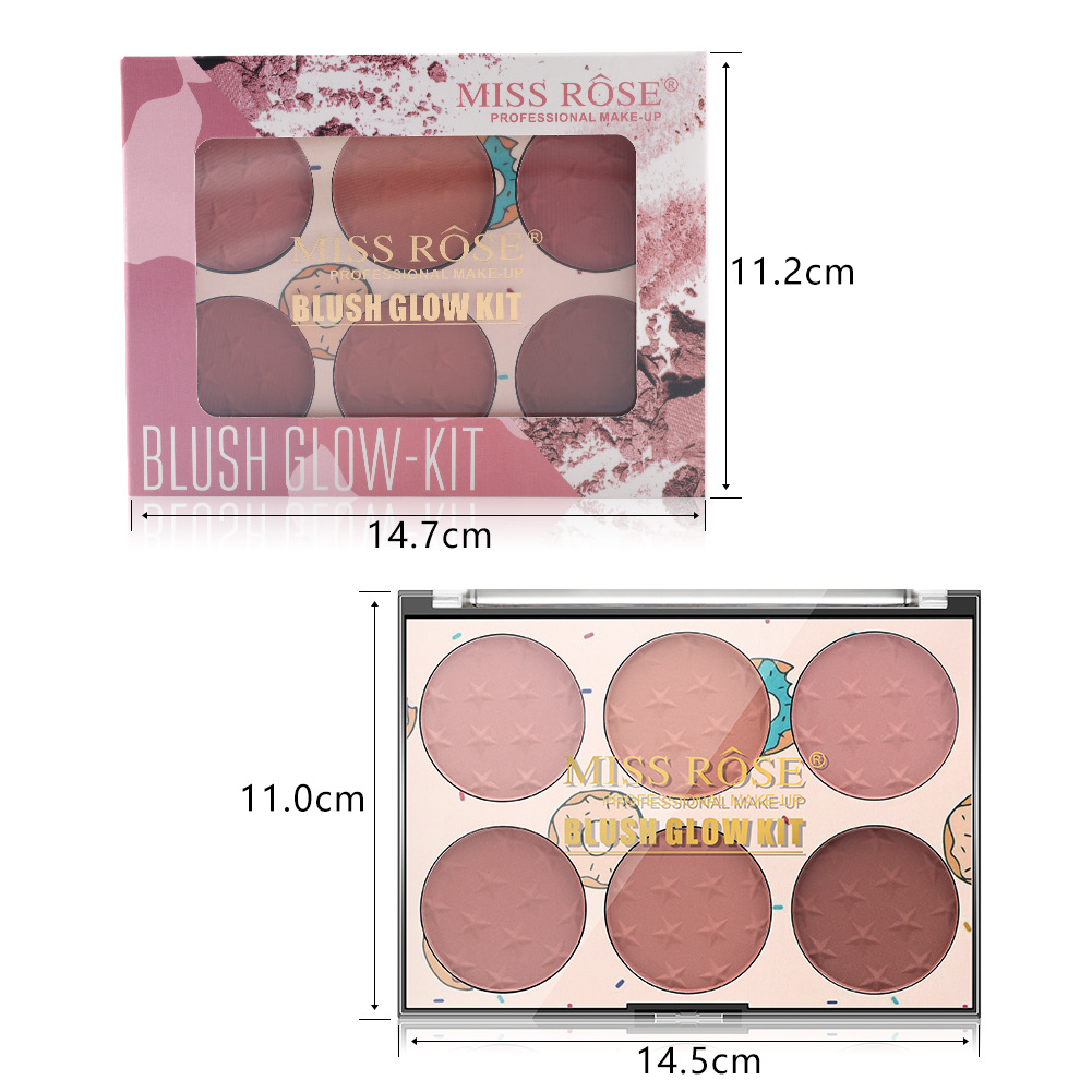 Miss Rose Blush Glow Kit 6 Colors Ultra